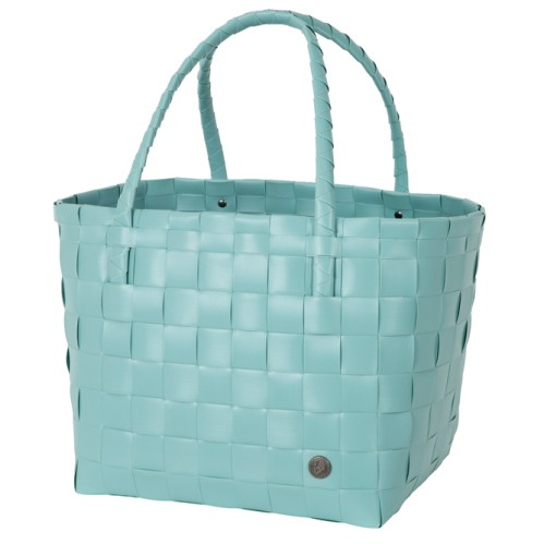 """Grocery bag """"Paris"""" dusty turquoise"""